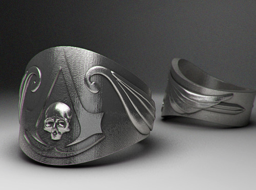 NEW Pirate's Creed Rings! Nothing is true, everything is permitted; even more so if you're a pirate. Show your pirate nature, and your allegiance to the assassins with this badass ring. Available in sizes 10 and up and metal and plastic material options. Follow MNM on Tumblr and or Facebook |  Enter our new Weekly Giveaway and get 10% off!