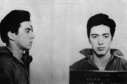 chawsaoz:  Al Pacino, early 1961.Arrested for carrying a concealed weapon.