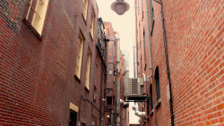"Boston back alley on Flickr. it seems I have a ""thing"" for industrial sceneries (as well as music)"