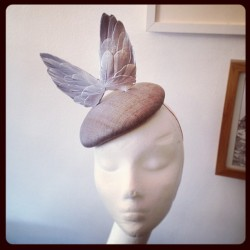 awongolding:  Finished my silver winged hat commission #millinery #hat #silver #wings #feathers  This is a little piece of total perfection. Well done.