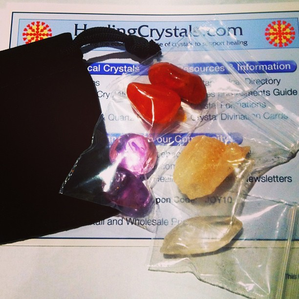 I am so excited to start working with these. #crystals #amethyst #honeycalcite #carnelian #quartz #hippie