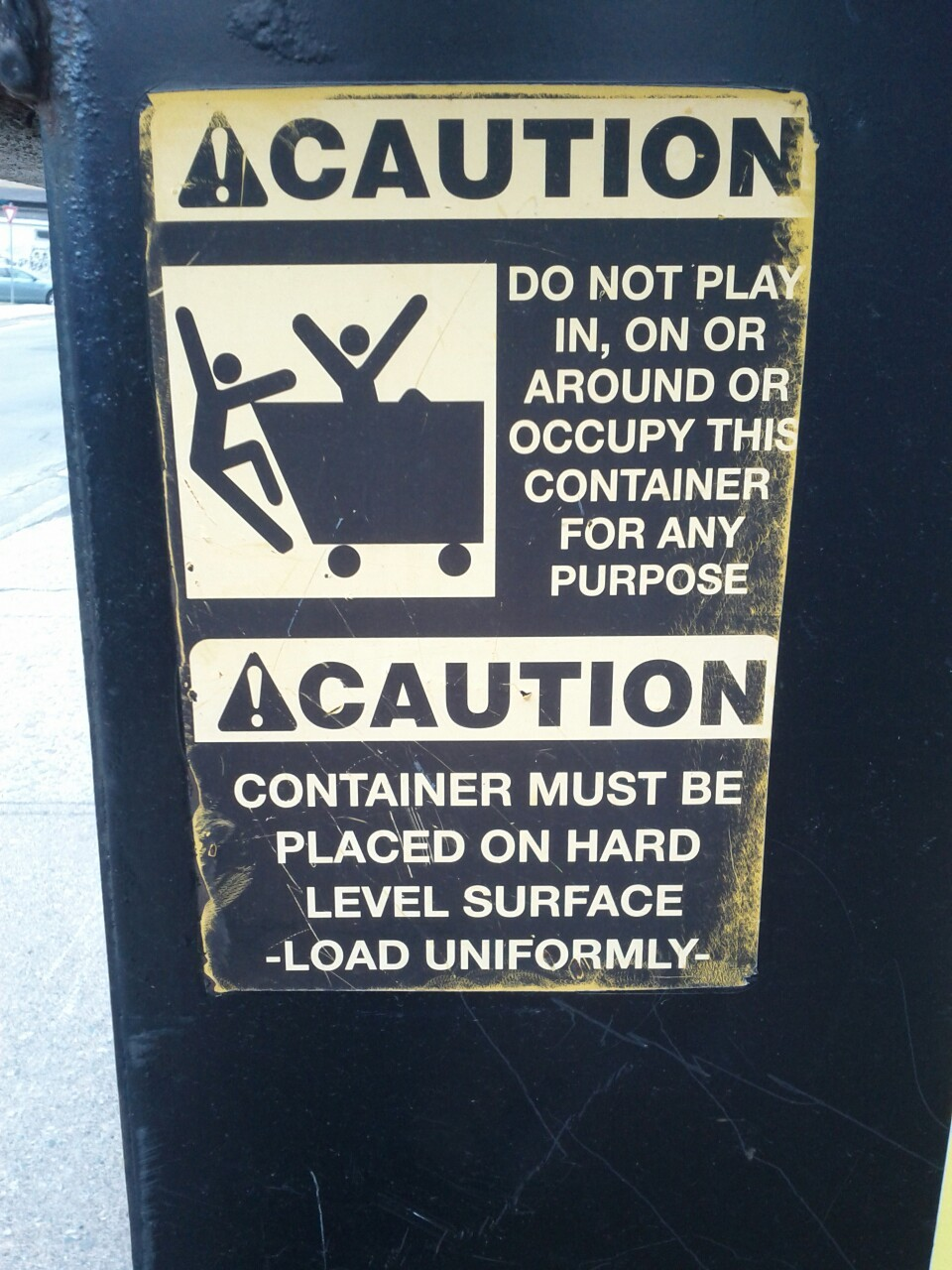 I know I'm not supposed to play in this dumpster, but those people look like they're having a REALLY good time.