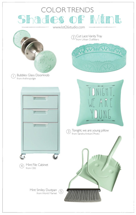 {On the Blog} Color Trend - Shades of Mint from Urban Outfitters, World Market, CB2 & more!