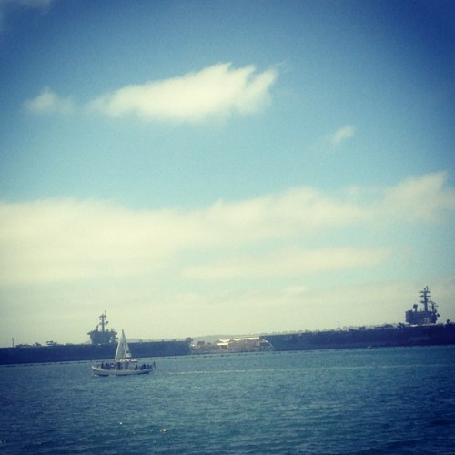 Navy.  (at San Diego Bay)