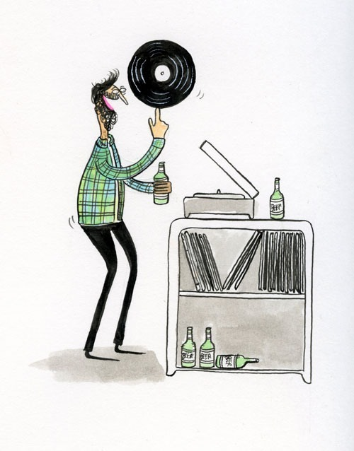 subpoprecords:  The joy of spinning records—we know the feeling. Illustration by Jay Howell