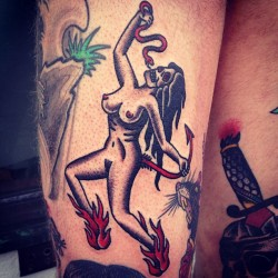 fuckyeahtraditionaltattoos:  Hillary Fisher-White - NYC