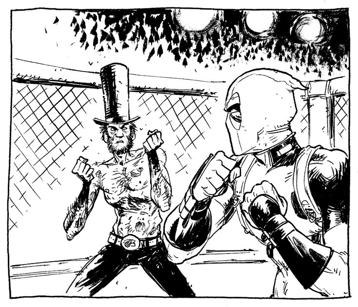 tonymoore:  I'm not saying this is necessarily the best panel i've drawn recently, but it's one of the most fun.