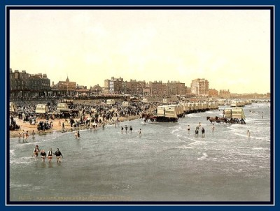 Margate, Kent, Beach and Ladies Bathing Place 1890