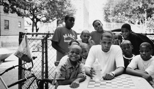 aintnojigga:  Jay-Z, photographed in the Marcy Projects for In My Lifetime… Vol. 1 by Jonathan Mannion in 1997.