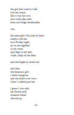 snappishly:  a poem about my ex bestfriend