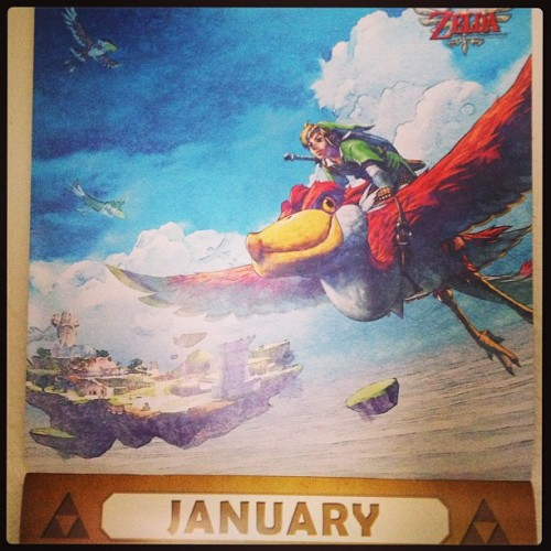 Finally got around to changing my calendar. #calendar #zelda #skywardsword