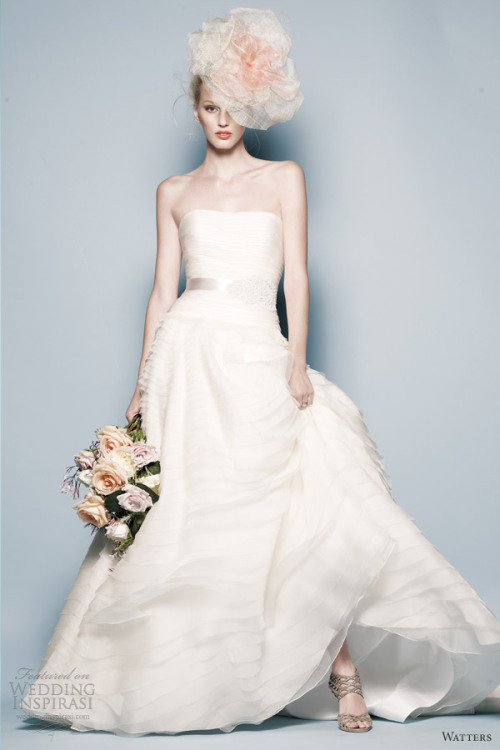 helloweddingdiary:  Watters Spring 2013 bridal collection