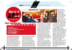 Arts review of 'Literary Deathmatch' for QX Magazine. Full text available here.
