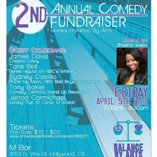 2 weeks away!!!! The 2nd Annual Comedy Fundraiser for @balancebyarts! Buy your tickets now! ✌