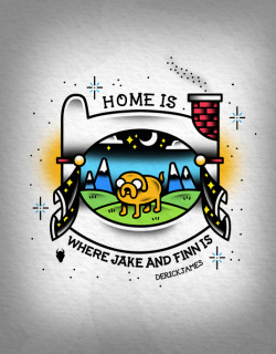 derickjames:  Reblog If You like guys!Home Is Where Adventure Time Is