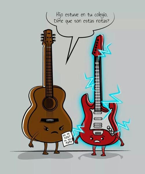malas notas musica music guitarra electrica humor calificaciones t36mafia
