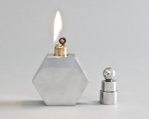 luellaloves:  friedasophiejewelry:  vintage lighter at LuminousWhatnots on etsy  hexagon lighter. !!!!!!!