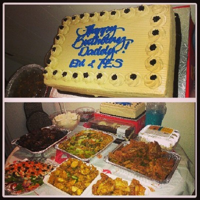 Happy Birthday Daddy Bernard! :) #foods #partyparty