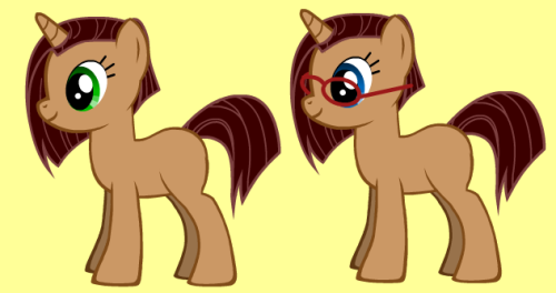 coco-kyoko:  See this image here? Her name is Cocoa. She is myself as a pony. I am yet to give her a Canon Cutie Mark… …Yet. But here are some Cocoa images. First, by myself:  Next, by Hart:  Some basic images of Cocoa with and without her contacts by Skyware:   Next we have Cocoa at her Laptop, with Fortune in the second image:   Next we have a Vector of an Alternate Cocoa by Tangerine Cookie:  Time for Seduction, by Skyware again:  And… Well… …I've been playing Mystery Dungeon. I am a Vulpix. I challenged Sky to draw something worth $40. I think I succeeded. This is Cocoa as a Vulpix.  Oh… And my Wallpaper. http://i.imgur.com/XobzK.jpg  Dear lord I hate mine. Oh well, that's how stuff goes when you try out new angles.