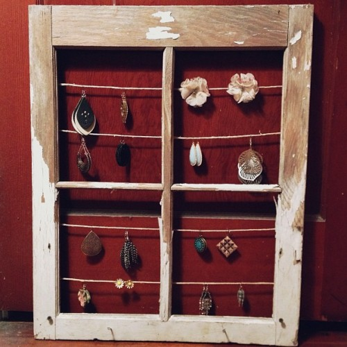 Homemade earring holder