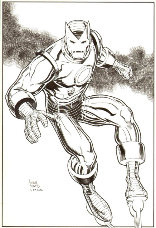 brianmichaelbendis:  Iron Man by Art Adams