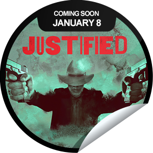 I just unlocked the Justified Season 4 Coming Soon sticker on GetGlue                      5466 others have also unlocked the Justified Season 4 Coming Soon sticker on GetGlue.com                  Get ready to return to the scene of the crime. Join Deputy US Marshal Raylan Givens and Boyd Crowder in Harlan. The new season of Justified premieres January 8th.  Share this one proudly. It's from our friends at FX.