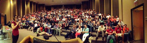The standing room only crowd at Bucknell University for my Sexploration talk.