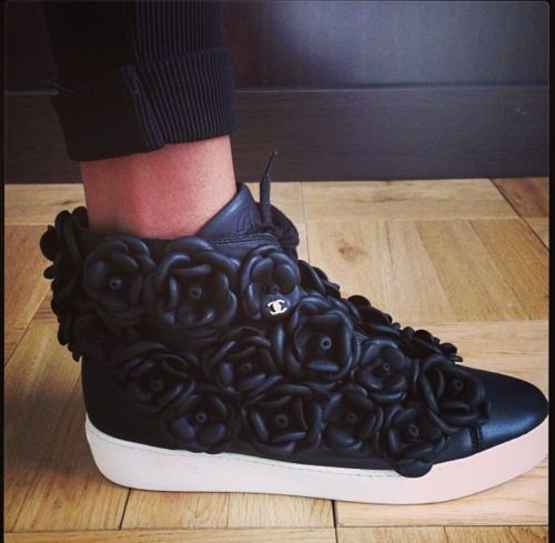 Jourdan Dunn's chic Chanel sneaks.