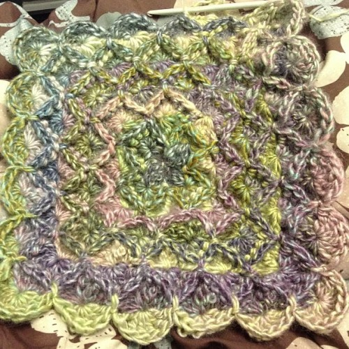 Crocheting a baby blanket. #crochet #crocheting #yarn