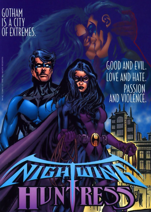 comicbookkissyface:  Nightwing/Huntress ad…can't remember which comic I got it from.