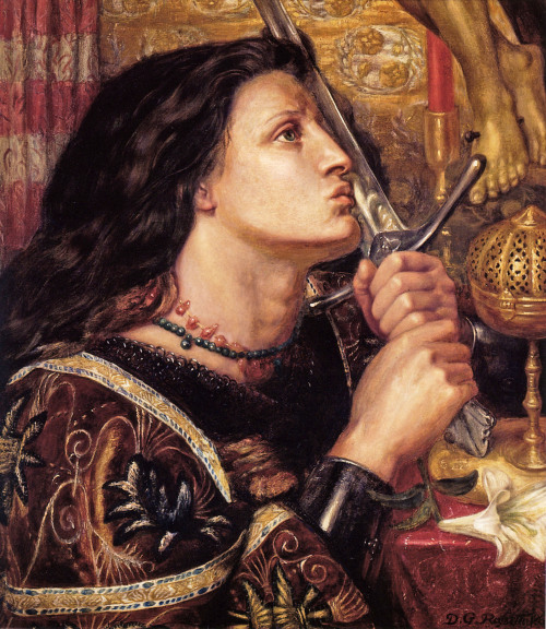 Joan of Arc by Dante Gabriel Rossetti, 1863.