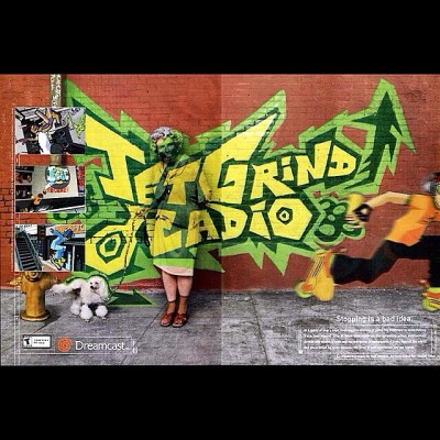 one of my favorite ads for one of my favorite video game series period. this game made me abundantly happy. this game made me insane to consider the sane acceptable. this game really hammered into me to explore the rabbit hole of art, design, fashion, and music in one long colorful dream. I like to think it made me appreciate the quirkiness of everything. 🇯🇵   #videogame #ad #classic #2000 #love #art #music #design #fashion #passion #one #insane #happy #smile #graffiti #celshade #graphic #anime