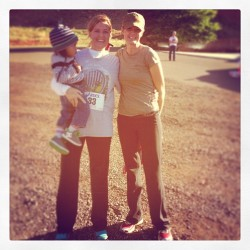 Congratulations to my Mom and Aunt Jenny! Ran the Kanab 10K and both got great times! Now let's go eat some greasy burgers and fries. @sunshinepoulsen