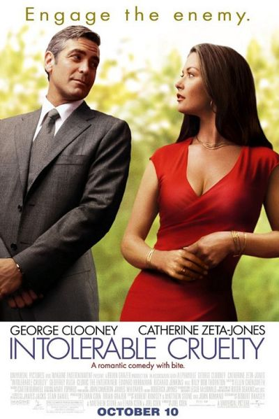 "365 Day Movie Challenge - #112: Intolerable Cruelty (2003) - dirs. Joel Coen and Ethan Coen Can I be honest and say it sucked? At a number of points I nearly turned it off. Clooney was OK when he was being slick and suave in the beginning, but once he tries to pull off the vulnerable puppy dog thing (a la Ned from ""Pushing Daisies""), the movie fails. The whole thing is hyper-literate but not in a good way."