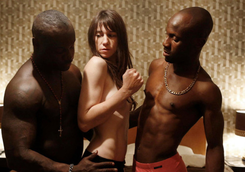 Uh, oh… Nymphomaniac Charlotte Gainsbourg | Shia LaBeouf Lars von Trier | 2013 …the cinematic envelope is about to get pushed off the table.