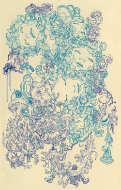 hifructosemag:  fer1972:  Nervosa by James Jean  James Jean (featured in hi-Fructose vol.15)