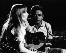 Johnny Cash & Joni Mitchell   © Graham Nash
