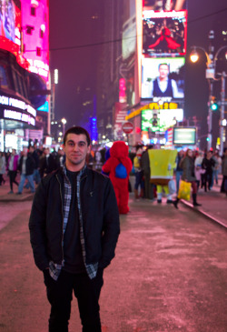 Yours truly in Times Square.