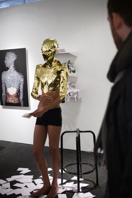 cuteforyou:  Wilmer Wilson IV, Self Portrait As Authentic (performance), 2012