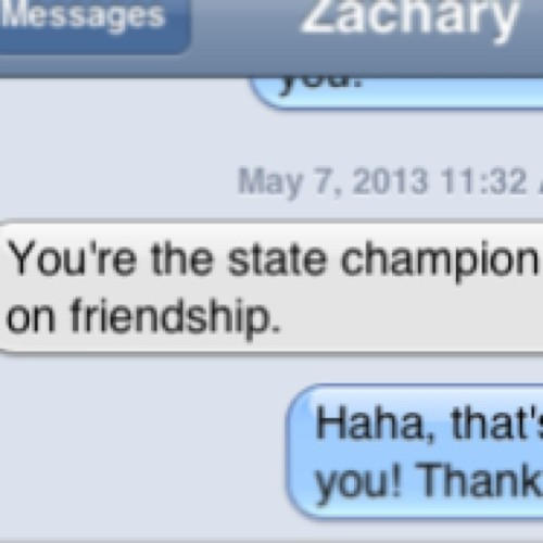 I've never been a state champion before.