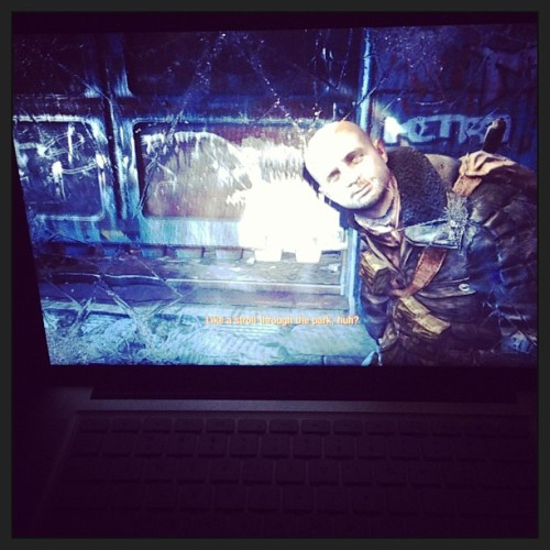 Intense epic gameplay I swear #metrolastlight