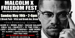 Hasan Salaam will be performing alongside Jasiri X, Rebel Diaz, Majesty, YC The Cynic & more at Brook Park in the Bronx - Sunday, May 19th. Come out and celebrate the Birthday & Legacy of Malcolm X.
