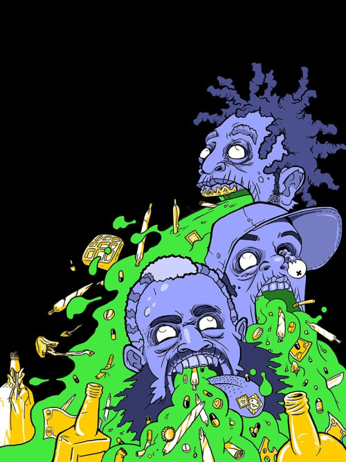 flatbushzombiez:  Flatbush Zombies: Art by Brendan Mauer