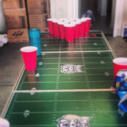 Best table ever. #Arizona #beerpong #beardown