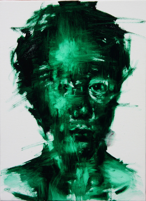 darksilenceinsuburbia:   KwagHo-Shin. [36] untitled oil on canvas, 2013, 33 x 24 cm.