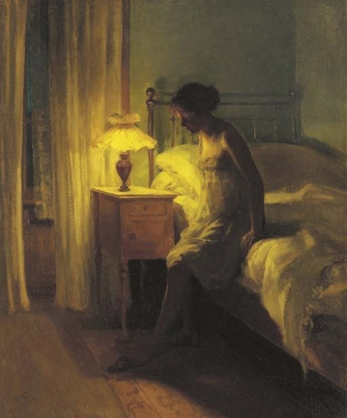 In the Bedroom, Peter Vihelm Ilsted. Danish (1861 - 1933)