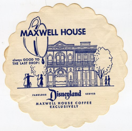 (via stuff from the park: Souvenir Friday- Maxwell House Coffee Shop Coaster)