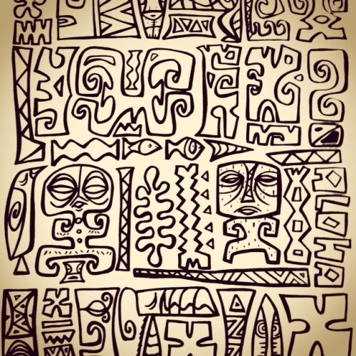 Tiki tOny drawings
