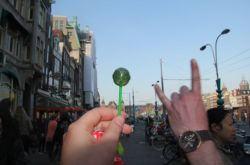 awesome-pot-head:  Went to Amsterdam and bought this cannabis flavored lollipop. Random stranger approved.  awesome weed posts