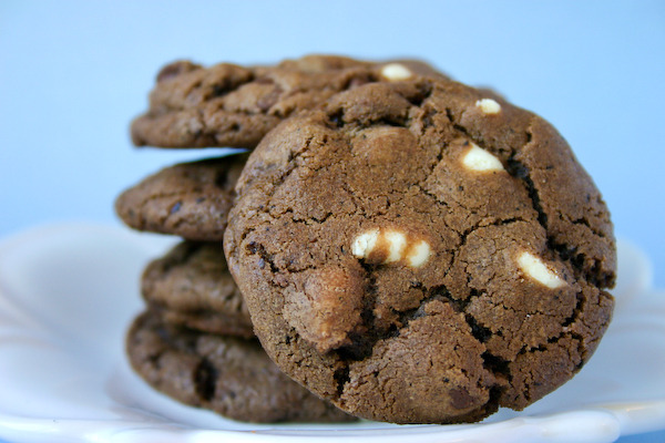 bakeddd:  white chocolate mocha cookies click here for recipe